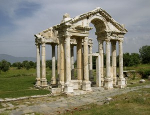 The entry gate to Aphrodisias